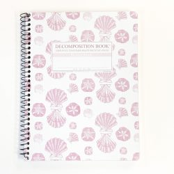 Decomposition Notebook - Pink Shells