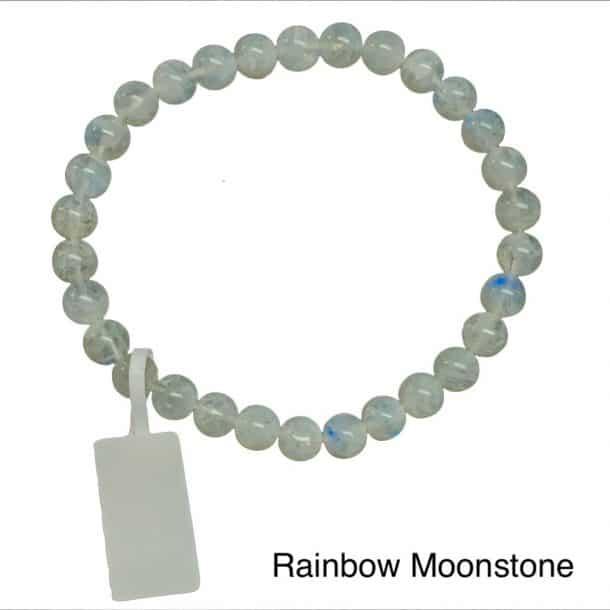 Rainbow Moonstone Bracelet 6mm