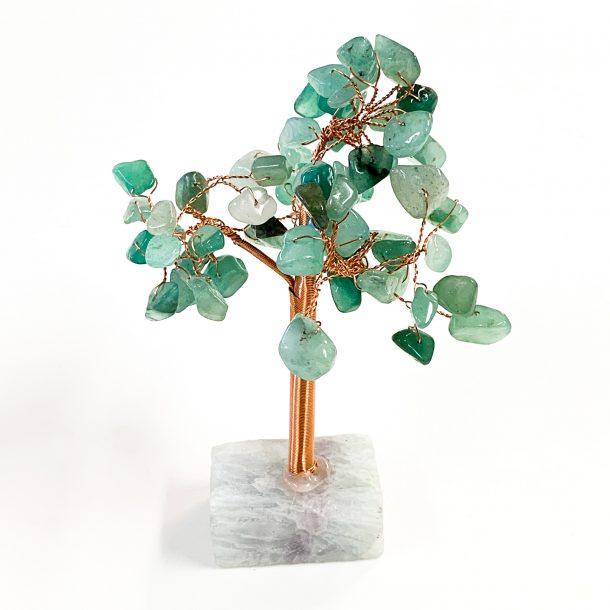Jade Gemstone Tree on Fluorite Base