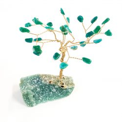 Amazonite Tree on Green Aventurine Base