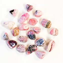 Rhodochrosite tumbled stone