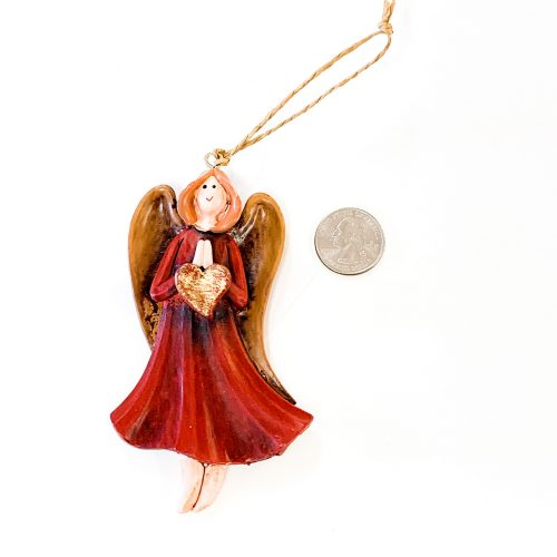 Angel Ornament Heart Standing