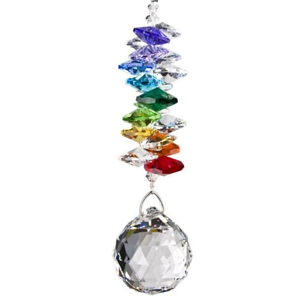 Sphere -4.5 in. Long, 15 in. Overall Length (with hanging chain)