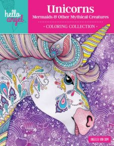 Hello Angel Unicorns Coloring Book