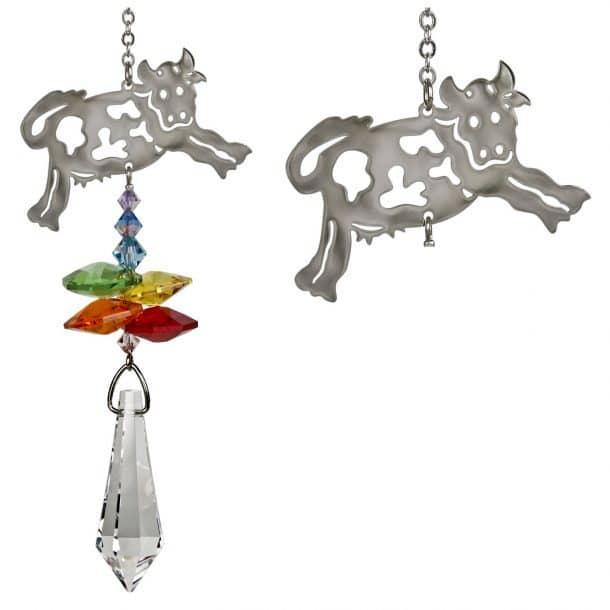 Crystal Fantasy Suncatcher - Cow