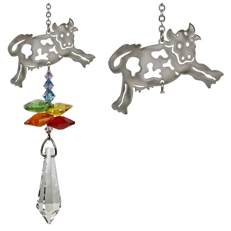 Crystal Fantasy Suncatcher - Cow