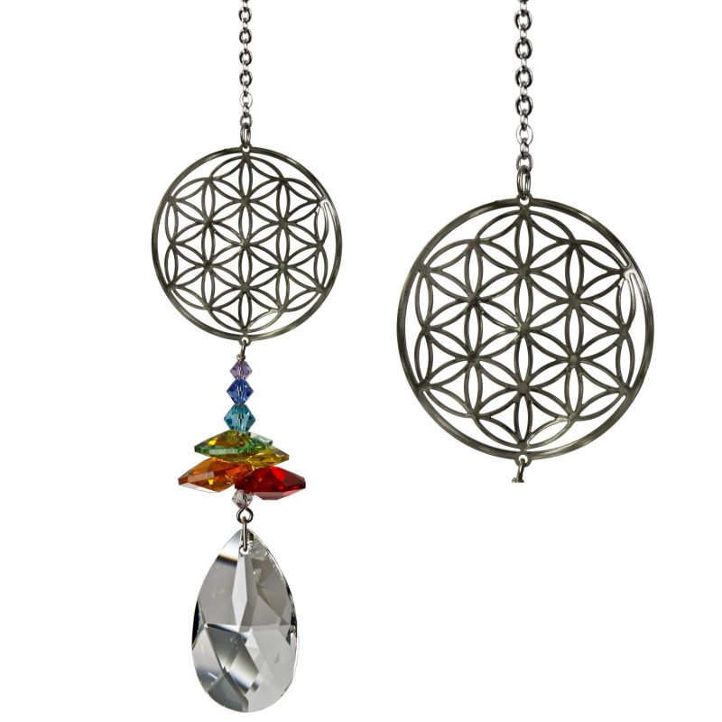 Crystal Fantasy Suncatcher - Flower of Life