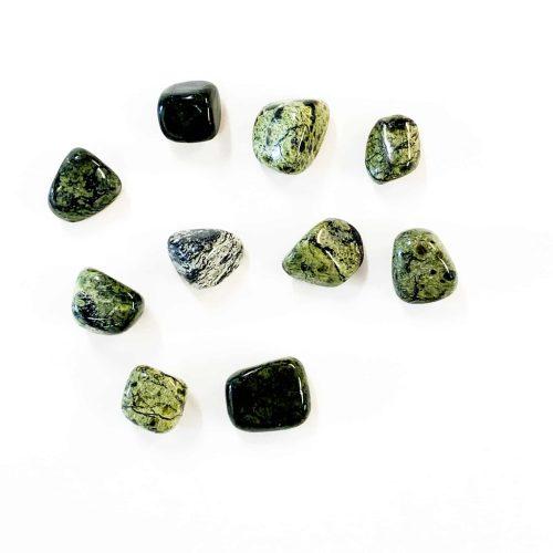 Asterite-Serpentine tumbled stone