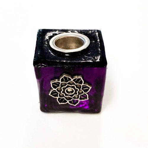 Purple Lotus Flower Mini Candle Holder