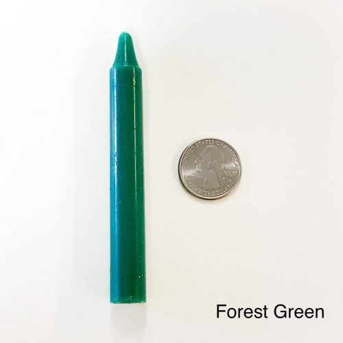 Forest Green Tiny Taper Candle