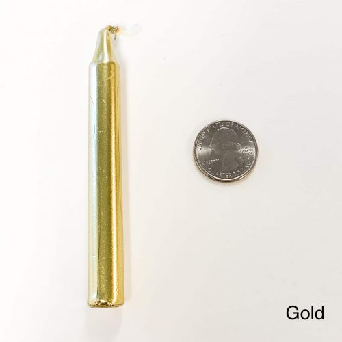 Gold Tiny Taper Candle