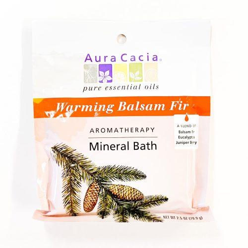 Warming Balsam Fir Aura Cacia Mineral Bath