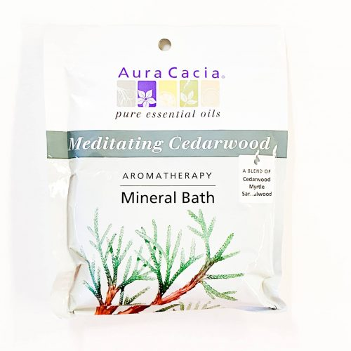 Meditating Cedarwood Aura Cacia Mineral Bath