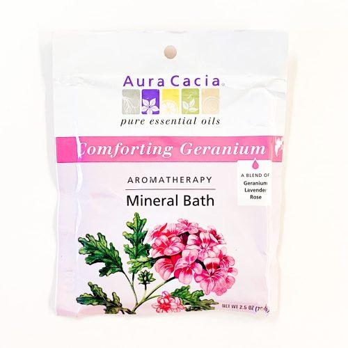 Comforting Geranium Aura Cacia Mineral Bath