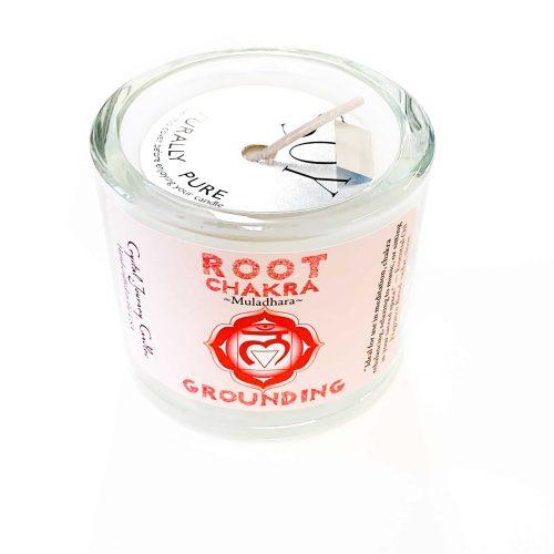 Root Chakra Soy-filled Votive holder