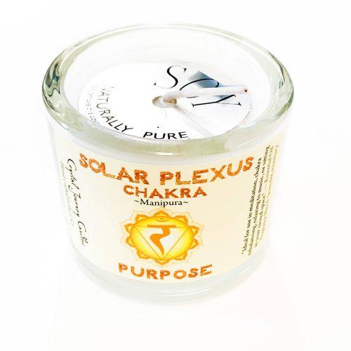 Solar Plexus Chakra Soy-filled Votive holder