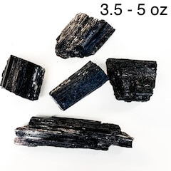 Black Tourmaline Natural Rough