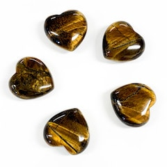 Gold Tiger's Eye Heart