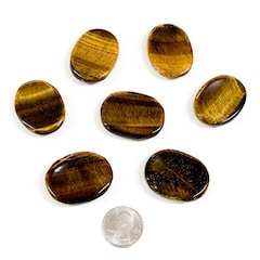 Gold Tiger's Eye Worry Stones
