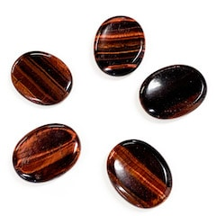 Red Tiger's Eye Worry Stone