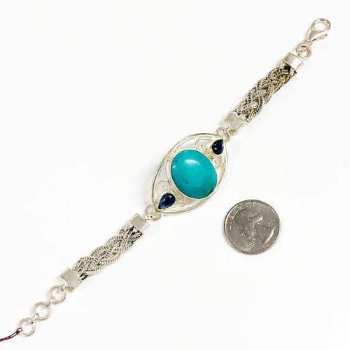 Chrysocolla and Kyanite Bracelet