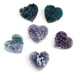 Grape Agate Heart