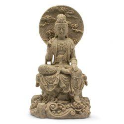 Kuan Yin Sandstone Resin Statue