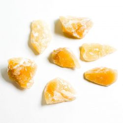 Orange Calcite Rough Chunks