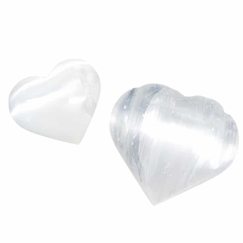 Selenite Heart – Plain or Carved