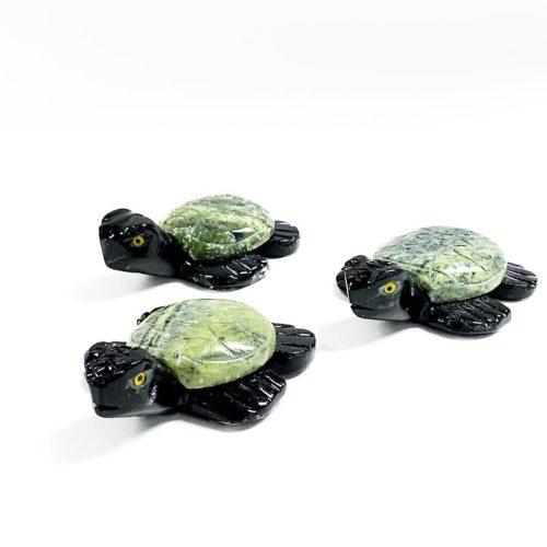 Serpentine and Black Onyx Turtle