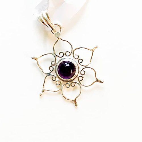 Amethyst Lotus Pendant