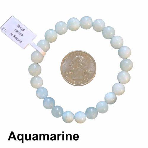 Aquamarine Bracelet 8mm
