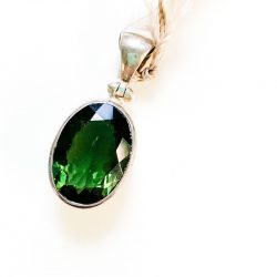 Faceted Moldavite Pendant