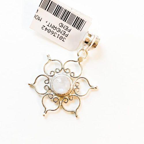Moonstone Lotus Pendant