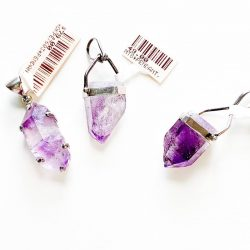 Natural Amethyst Point Pendant