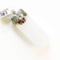 Selenite and Amethyst Pendant