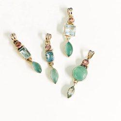Aquamarine Multi Stone Pendant