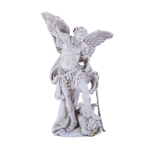 Archangel Michael Statue Small White