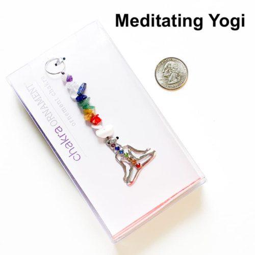 Meditating Yogi Chakra Ornament
