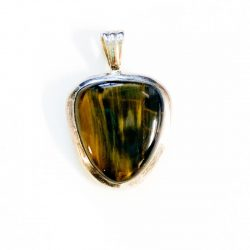 Honey Blue Tiger Eye Pendant