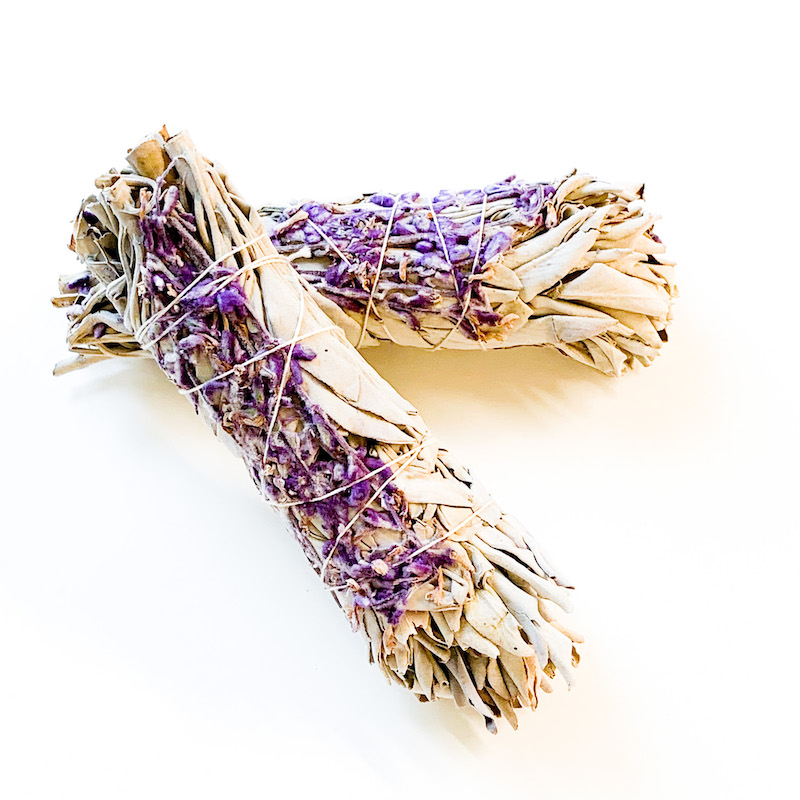 White Sage and Lavender Smudge Stick