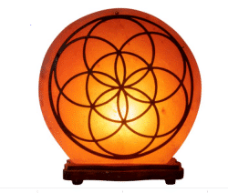Seed of Life Wooden Salt Lamp
