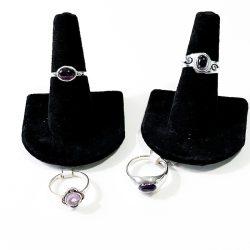 Amethyst Small Stone Ring
