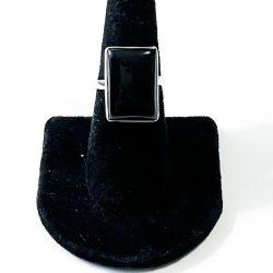 Black Jade Size 7 Ring