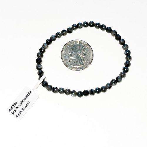 Black Labradorite 4 mm Bracelet