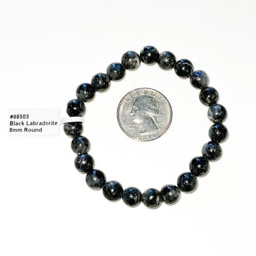 Black Labradorite 8 mm Bracelet
