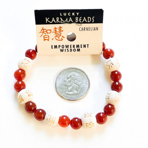Carnelian Lucky Karma bracelet