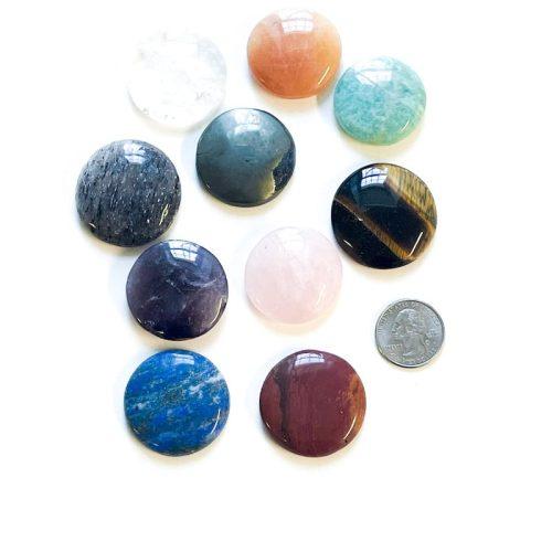 Chakra Gemstone Cabachon Set Stones in Pockets