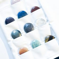 Chakra Gemstone Cabachon Set Stones in Pockets