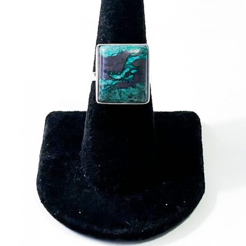 Chrysocolla with Cuprite Size 7 Ring